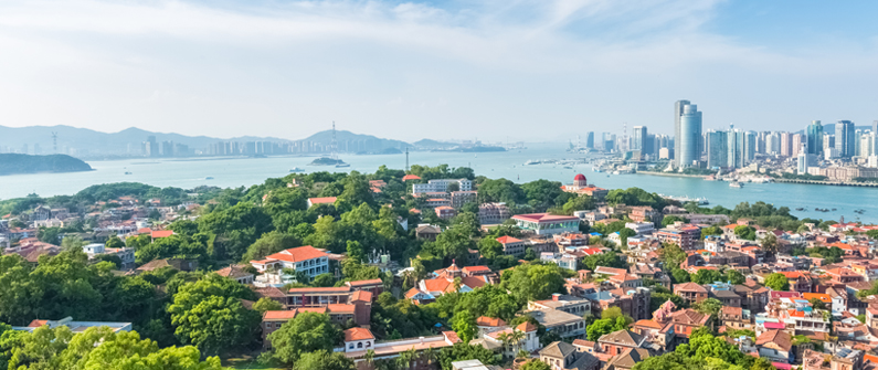 Xiamen offers a mixture of heritage and modernity, treescapes and cityscapes, from the greenery of Gulangyu island to the skyscrapers of the mainland.   © shutterstock - chuyuss