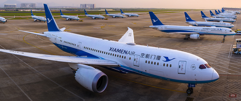 XiamenAir boasts a young fleet of 200 carriers with an average age of five years © Courtesy Xiamen Airline