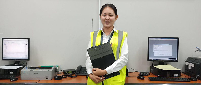Thay Sokmean has worked as a flight coordinator in the capital's airport for the past year.