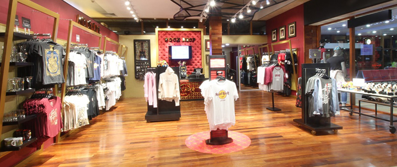 The new Rock Shop gives busy travelers the opportunity to pick up their favorite merchandise before they fly.
