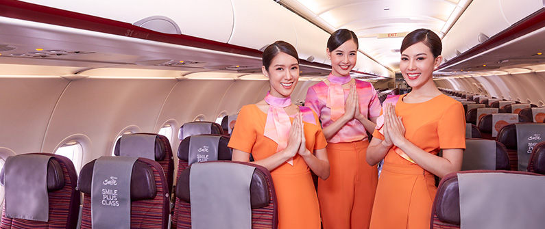 Thai Smile Airways has been voted best in the region by customers three years in a row. - Courtesy of Thai Smile Airways