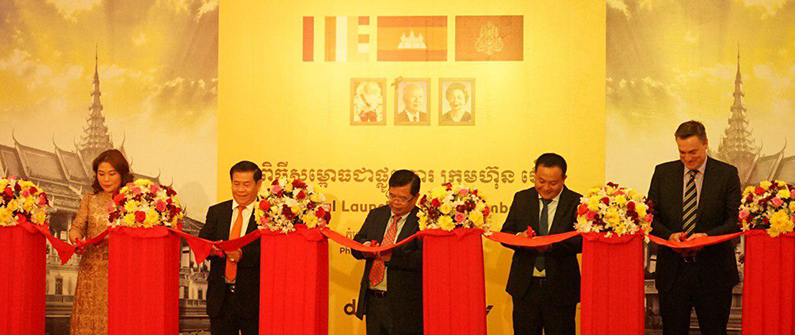 Making it official: the ribbon cutting ceremony on December 19 to mark the launch of Hertz in Cambodia