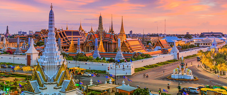 Bangkok was the number one destination for people flying from Cambodia in December.