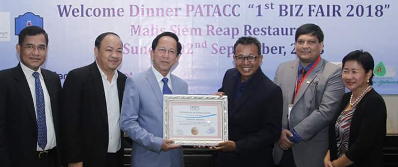 Cambodia Airports was honored with a certificate of appreciation for its sponsorship of PATA Cambodia's recent events.